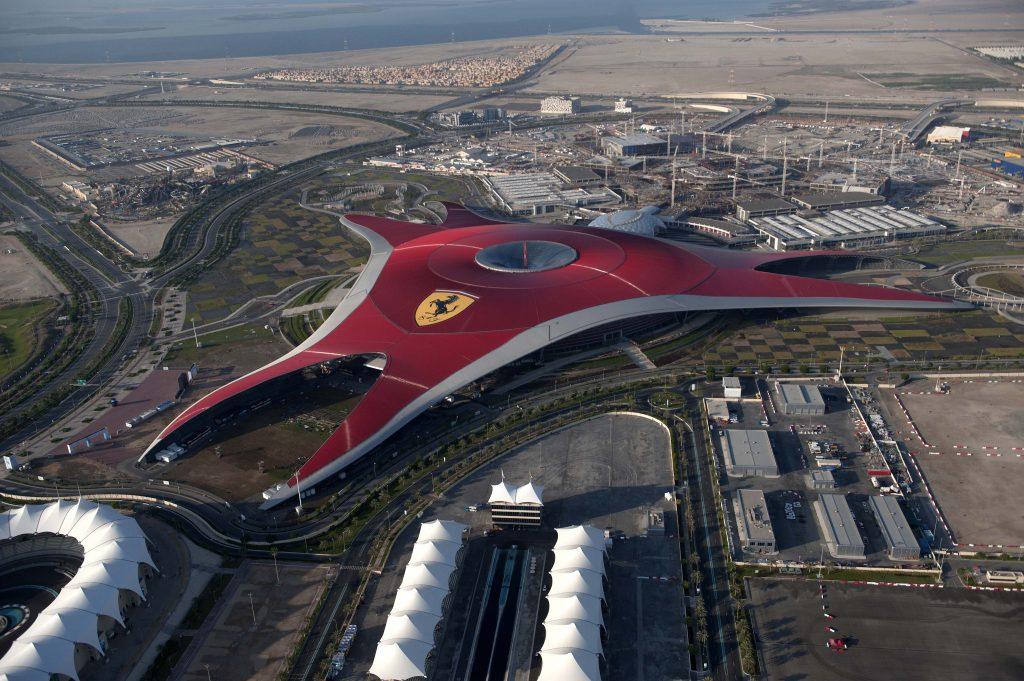 Ferrari World Abu Dhabi Aerial View