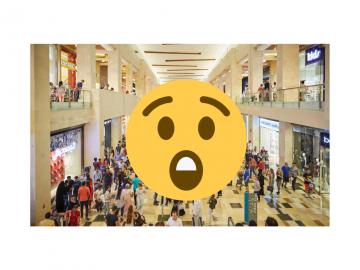 Crwod inside a shopping area