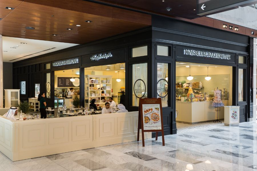 Front view of Magnolia Bakery in Galleria Mall
