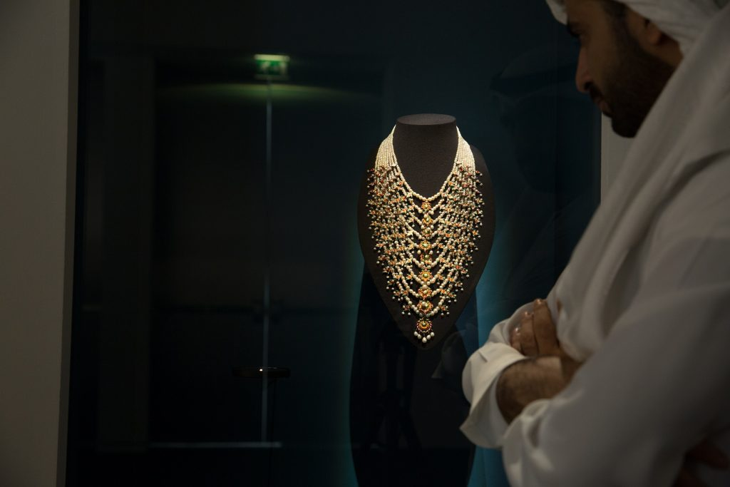 Golden Necklace at the Louvre Abu Dhabi