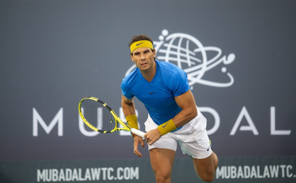 Mubadala World Tennis Championship happening next weekend.