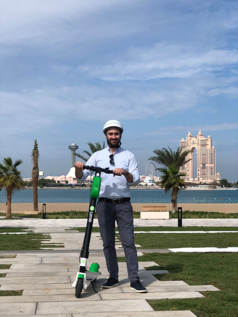 Lime E-scooter brand in Abu Dhabi