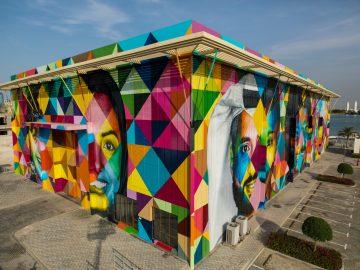 Lively Mural At Al Bateen