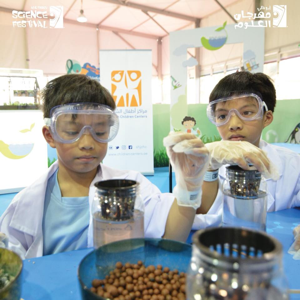 Young scientist at the Abu Dhabi Science Festival