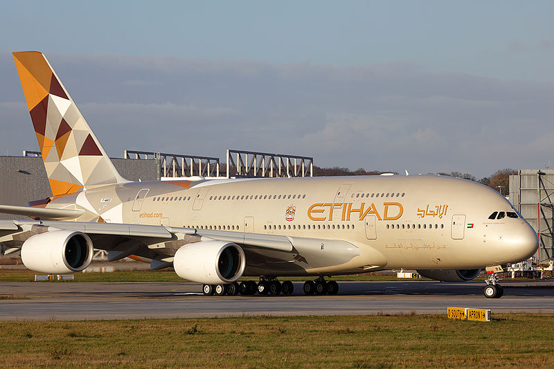 Etihad Airways safest Airline
