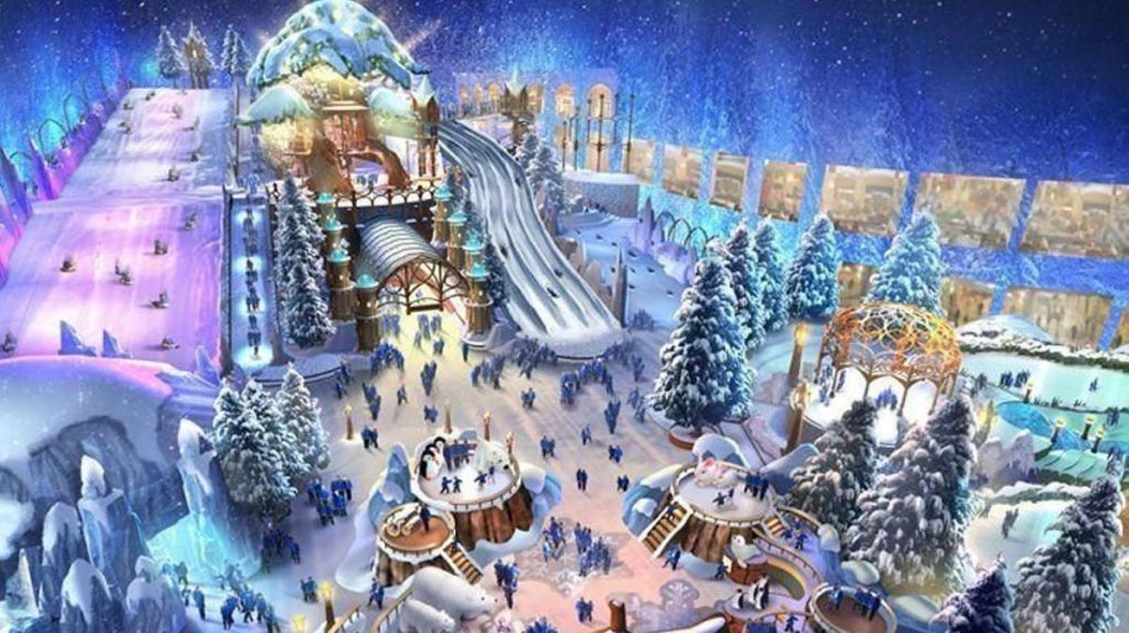Snow Abu Dhabi will be the world's largest snow parks.
