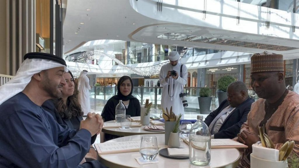 H.H. Sheikh Mohamed Bin Zayed Al Nahyan in Dubai Mall
