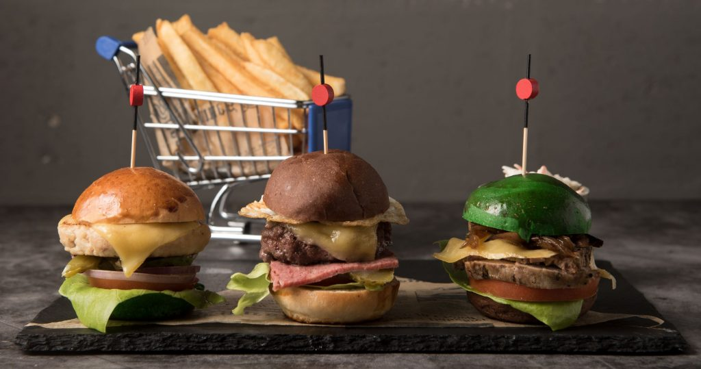 Juicy burgers at Waves Bar in Novotel Al Bustan