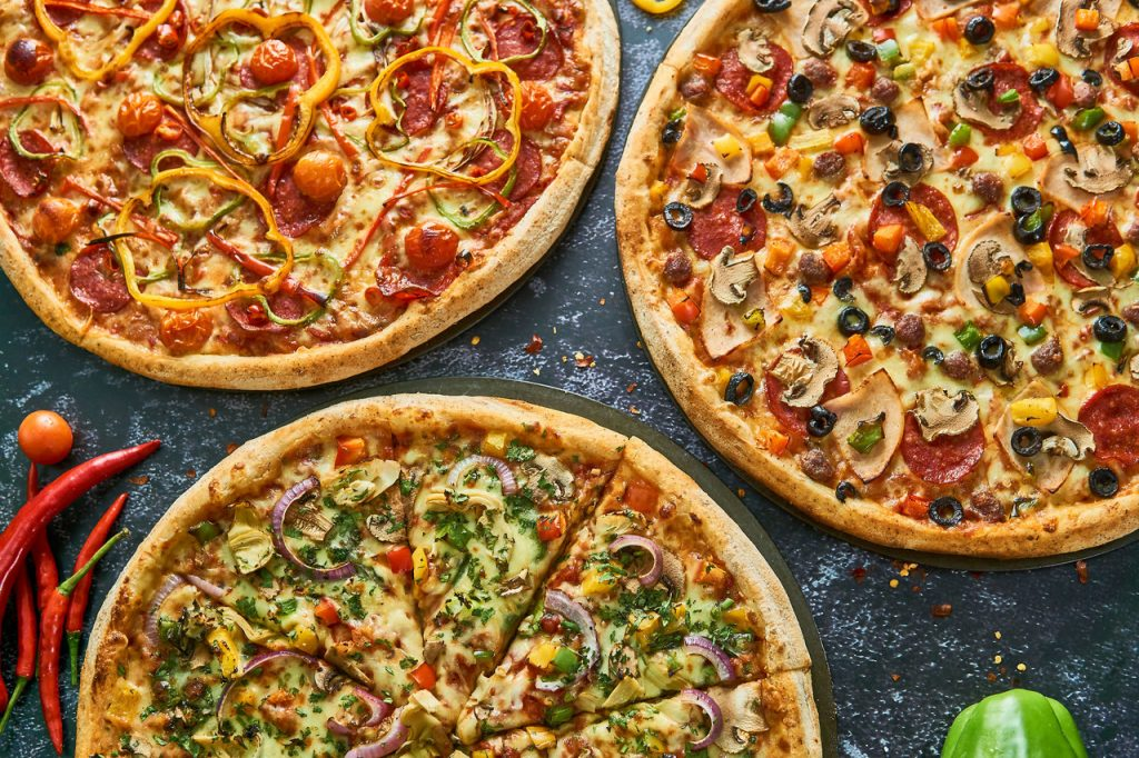Three Pizza's