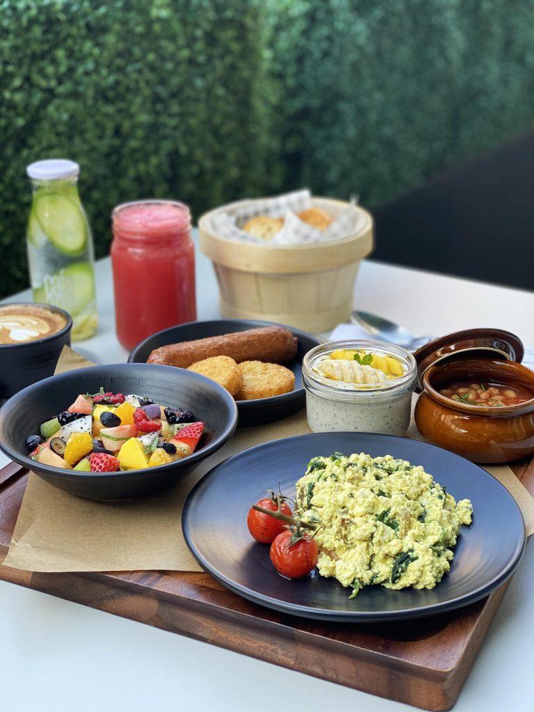 Vegan breakfast at Cafe 302