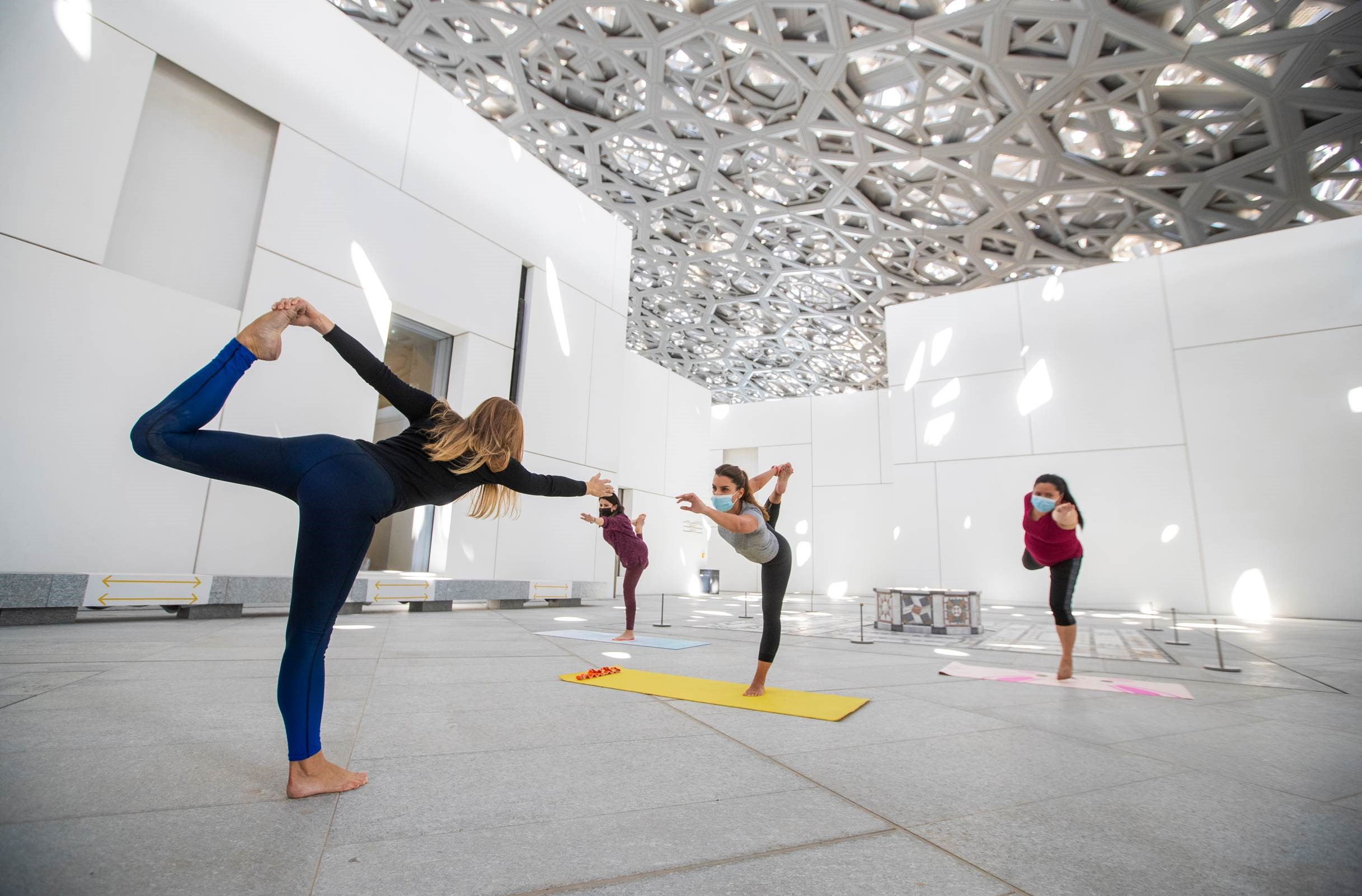 Yoga at Louvre Abu Dhabi