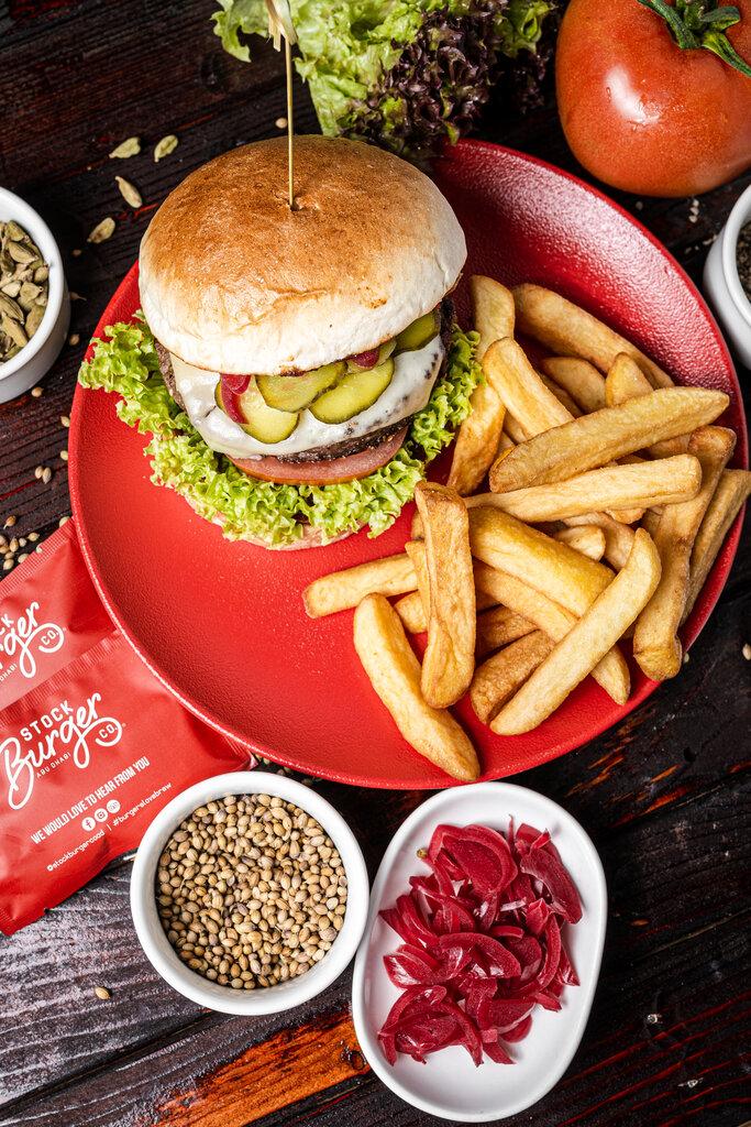 Burger with Fries at Holiday Inn Abu dhabi