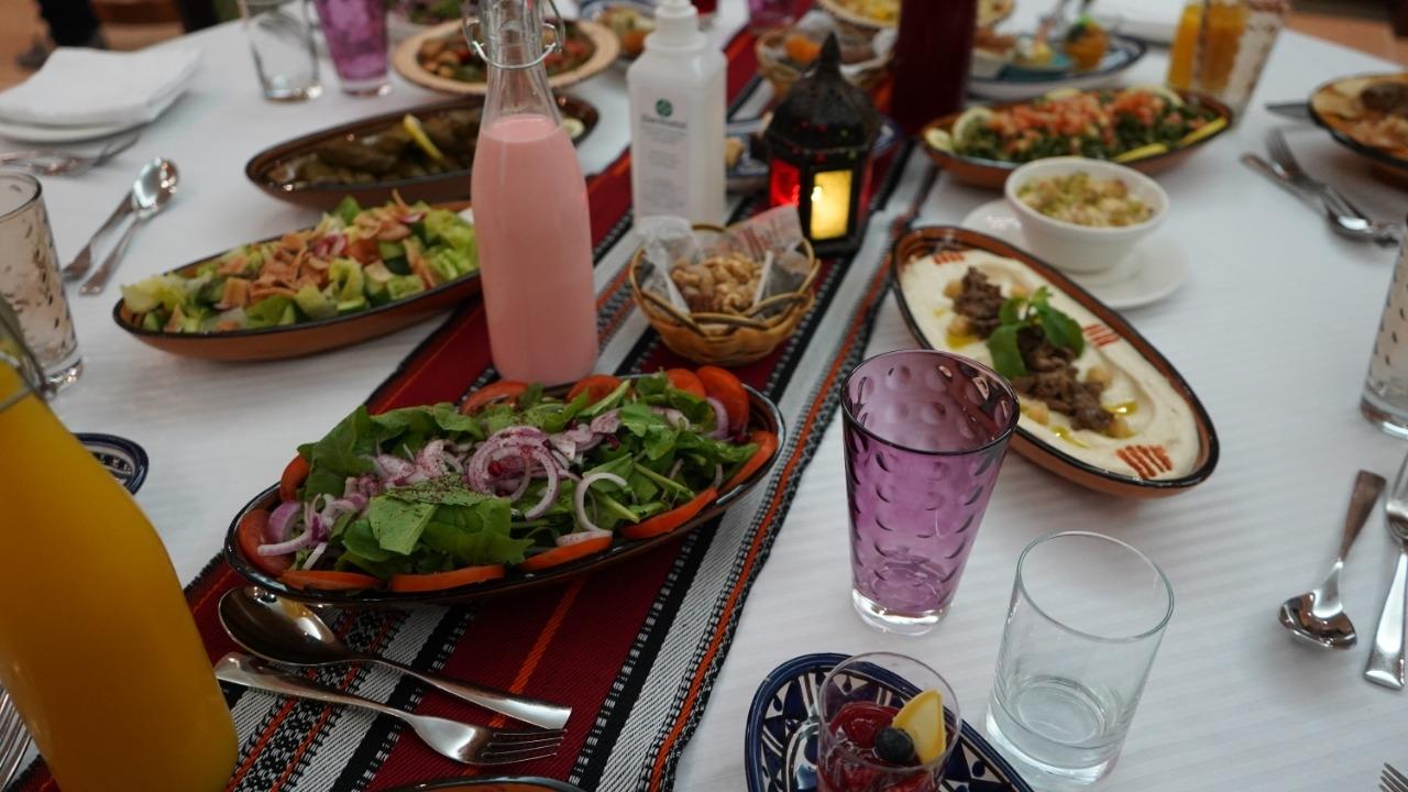 Different variety of food at Al Raha Beach Hotel