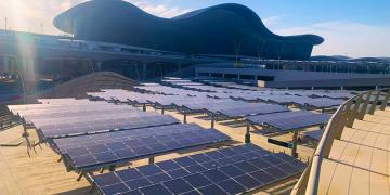 Solar-powered car park