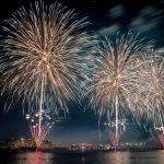 Fireworks on Yas Island