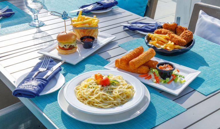 Binge On! Your kids eat for free at Aquarium seafood restaurant