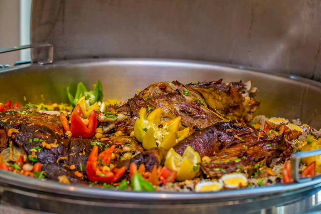 Buffet menu at Eid al-Adha